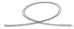 Dropper Loop Knot Step 1